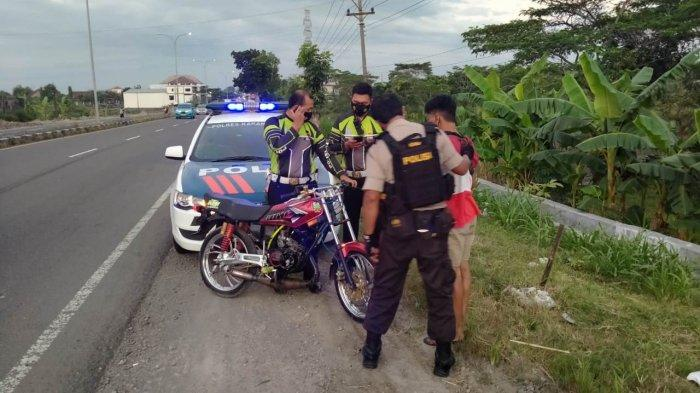 Motor Remaja Asal Ngawi Diamankan Polisi Saat Patroli Aksi Balap Liar di Jaten Karanganyar