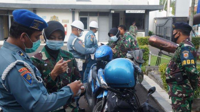 Jelang HUT ke-75,Detasemen Polisi Militer Lanal Tegal Cek Kedisiplinan Prajurit