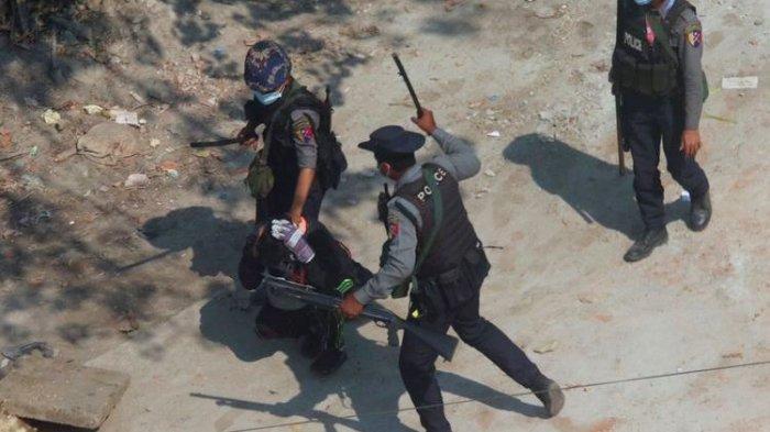 Kejamnya Junta Militer Myanmar, Tak Segan Tembak Wajah Warga Sipil, Tercatat 231 Demonstran Tewas