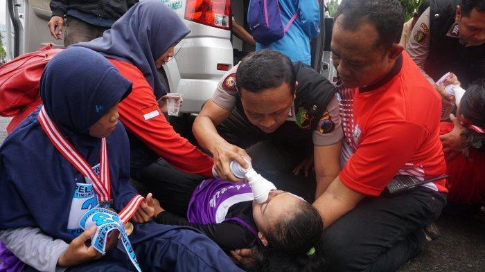 Belasan Peserta Purbalingga Run 10K Pingsan, Urkes Polres Purbalingga Bertindak Sigap