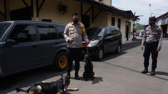 Polres Batang Tingkatkan Pengamanan, Terjunkan Anjing Pelacak Deteksi Bahan Peledak