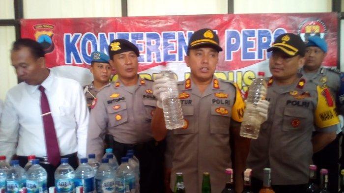 Polres Kudus Sita Ratusan Botol Miras Diduga untuk Perayaan Pesta Malam Tahun Baru