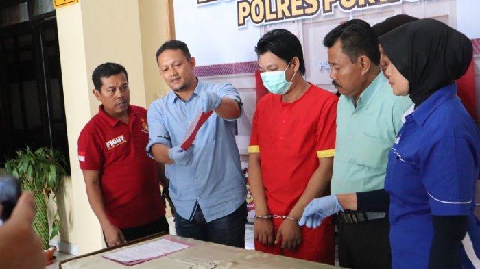 Anggota Polres Purworejo Temukan Sabu dan Alat Hisap saat Tangkap Mochammad Setiawan di Rumahnya