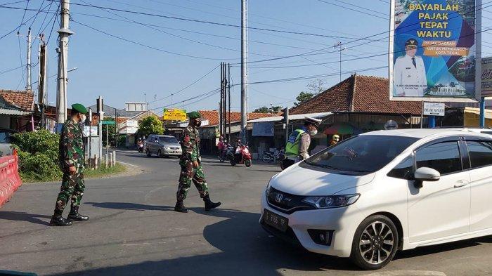 Polres Tegal Kota Menutup 26 Jalan Selama PPKM Darurat, Banyak Warga Masih Wira-wiri