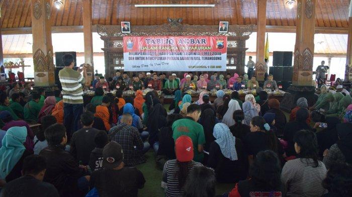 Hari Buruh, Polres Temanggung Gelar Tabligh Akbar May Day Is Fun Day