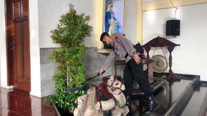 Timsus Harimau Ajak K9 Sterilisasi Gereja di Wonogiri Beri Rasa Nyaman Jemaat Natal