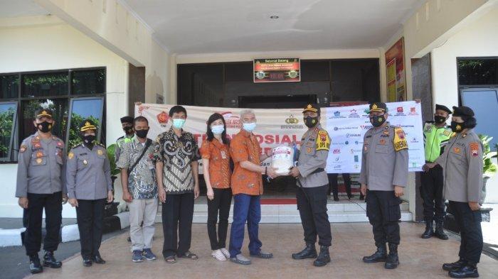 Polres Wonogiri Terima Bantuan Beras dan Masker, Kapolres: Akan Disalurkan Kepada Masyarakat