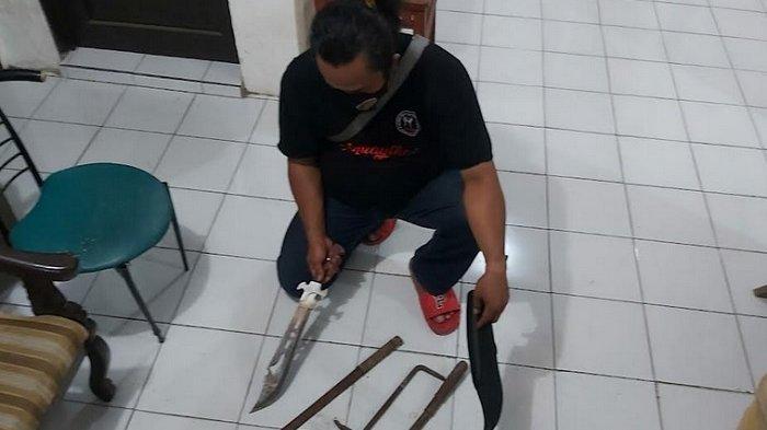 Tawuran di Semarang Kampung Sawah Vs Karyawan Distributor Terpal, Polisi Sita Sejumlah Senjata Tajam
