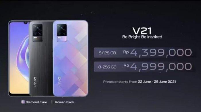 Masa Pre-Order, Ini Spesifikasi dan Harga Vivo V21