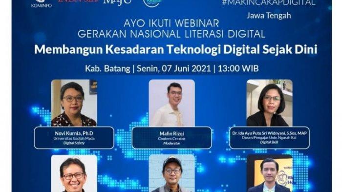 Webinar Literasi Digital, Ajak Warganet Batang Membangun Kesadaran Teknologi Digital Sejak Dini