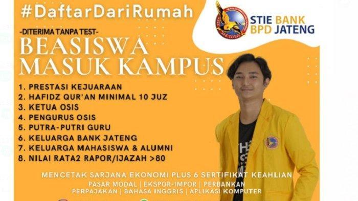 STIE Bank BPD Jateng Semarang Berikan Beasiswa, Kuliah Tanpa Tes Masuk