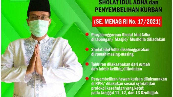 Penyelenggaraan Salat Idul Adha di Rumah Saja, Kemenag: Kami Sudah Sosialisasikan ke Pengurus Masjid