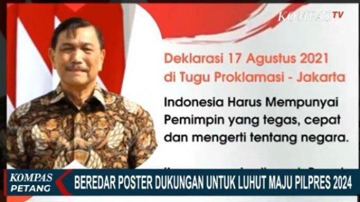 Poster Luhut Binsar Pandjaitan Maju Jadi Capres 2024 Beredar, Begini Komentar Jubir