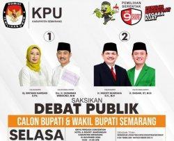 Jelang Debat Pilkada Kabupaten Semarang 2020, 2 Calon Bupati Mengaku Sibuk Belajar