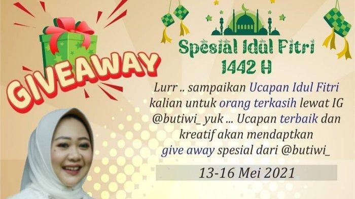 Bupati Purbalingga Dyah Hayuning Pratiwi Gelar Giveaway di Hari Raya di Instagram, Ini Syaratnya!