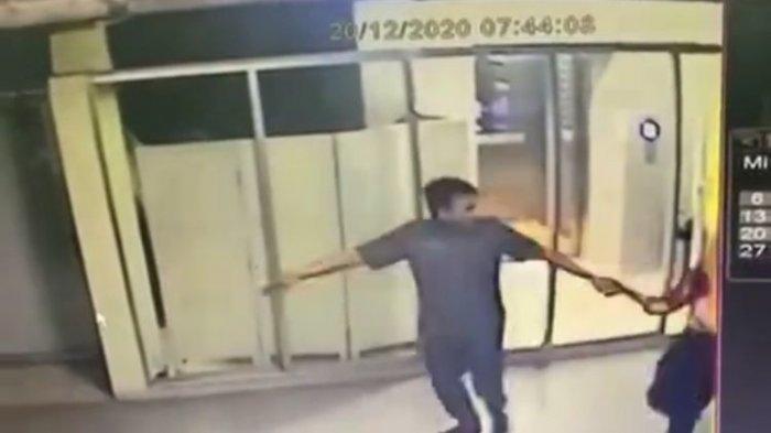 Terekam CCTV Satpam Ini Sudah Lecehkan Bu Dokter Cantik Sejak di Lift, Dipaksa ke Lantai yang Kosong