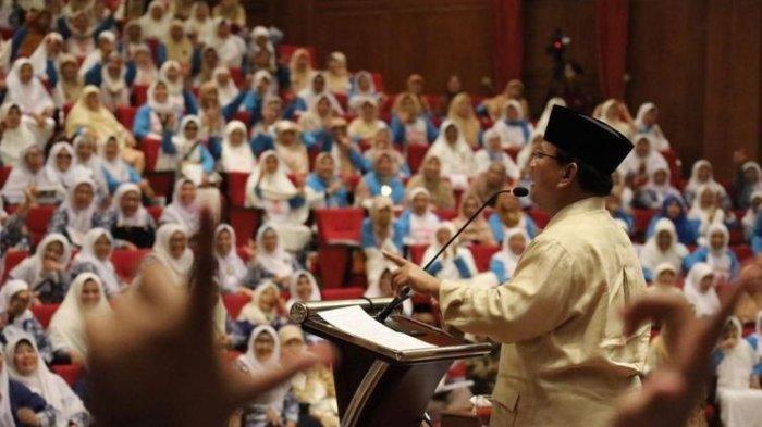 Di Depan Ibu-Ibu Relawan,Prabowo:Harga Daging, Telur, Ayam, Kami Turunkan Dalam 100 Hari Pertama