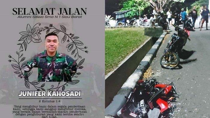 Kabar Duka, Prada TNIJunifer Meninggal Kecelakaan Ditabrak Pembalap Liar, Penabrak Tewas