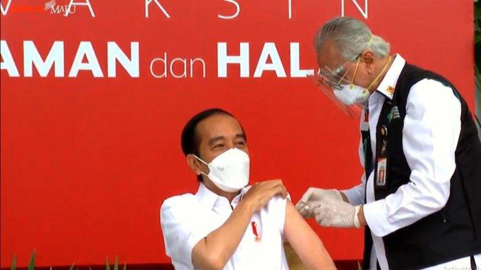 Vaksin Corona Baru Bereaksi Setelah 2 Jam Disuntikkan, Ini yang Dirasakan Presiden Jokowi