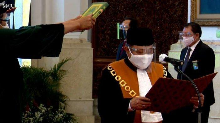 Jokowi Lantik Andi Samsan Nganro sebagai Wakil Ketua Mahkamah Agung di Istana Negara