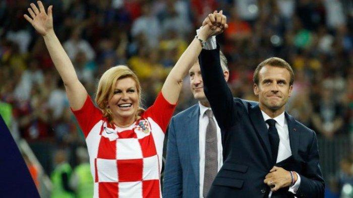 Hadiri FinalPiala Dunia, Presiden Kroasia Hadiahi Luka Modric Sebuah Pelukan