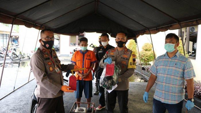 Anggota Polres Kebumen Tangkap Maling Spesialis Mesin Pompa Air di Sawah Warga