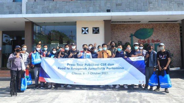 Press Tour Publikasi Corporarte Social Responsibility (CSR) & Road to AJP 2021 yang diselenggarakan PT Kilang Pertamina Internasional (KPI) Unit Cilacap, Rabu – Kamis (6 – 7/10/2021).