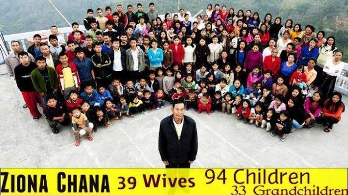 Ingat Ziona Chana Pria yang Punya 38 Istri, Kini Telah Meninggal