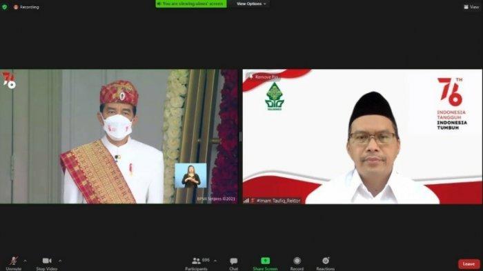 Civitas Akademika UIN Walisongo Semarang Ikut Upacara Virtual HUT ke-76 RI, Tebar Semangat Tangguh