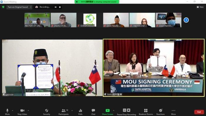 Perkuat Kerjasama Internasional, Unissula Semarang Teken MoU dengan Taipei Hospital Taiwan