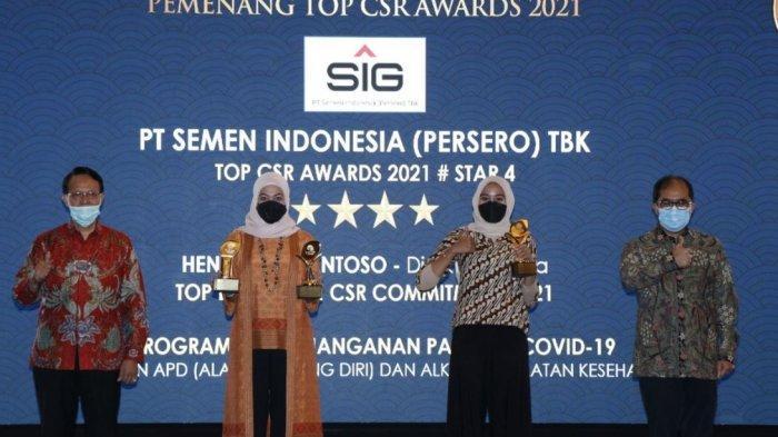 PT Semen Raih Tiga Penghargaan Dalam Ajang TOP CSR Awards 2021