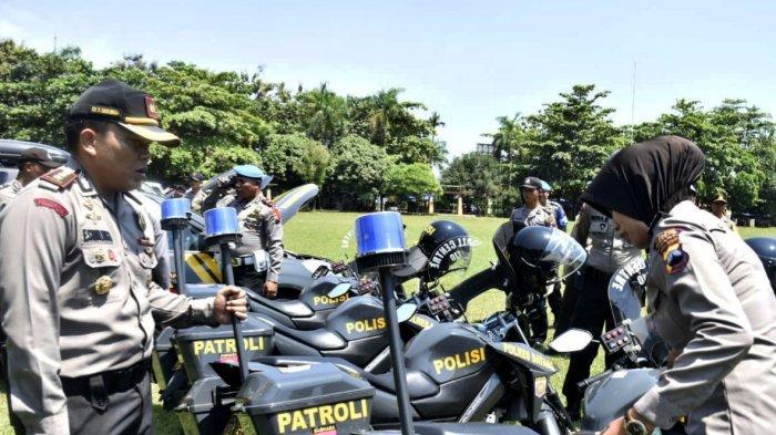 Jelang Pemilu 2019, Kendaraan Operasional Polres Batang Dicek di Lapangan Dracik Kabupaten Batang