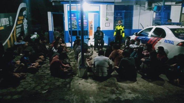 Razia Balap Liar di Ungaran, Satlantas Polres Semarang Ringkus 55 Orang