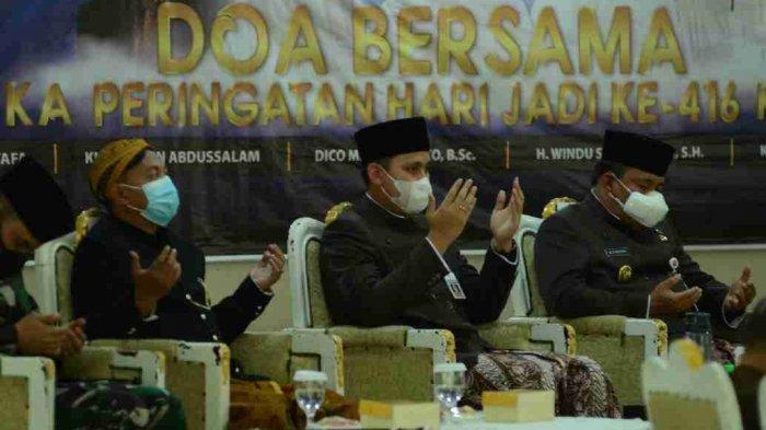 HUT Ke-416 Kabupaten Kendal, Bupati Dico Gelar Doa Bersama Tokoh Agama via Daring