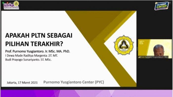 PMLP Unika Gelar Diskusi PLTN Pilihan Terakhir, Hadirkan Purnomo Yusgiantoro