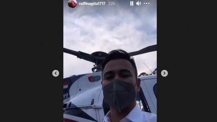 Temui Sandiaga Uno, Raffi Ahmad Naik Helikopter, Alasannya Agar Tidak Telat