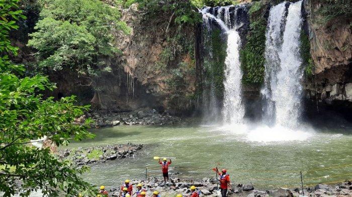 Suasana lokasi rafting di Desa Sikasur, Kabupaten Pemalang, Jawa Tengah.