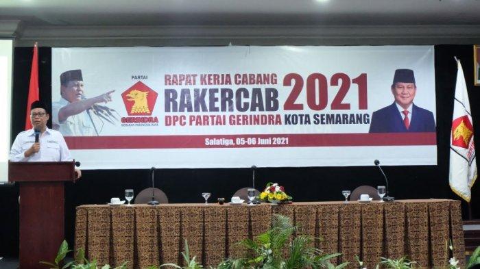 Gelar Rakercab 2021, DPC Partai Gerindra Kota Semarang Minta Konsolidasi Diperkuat
