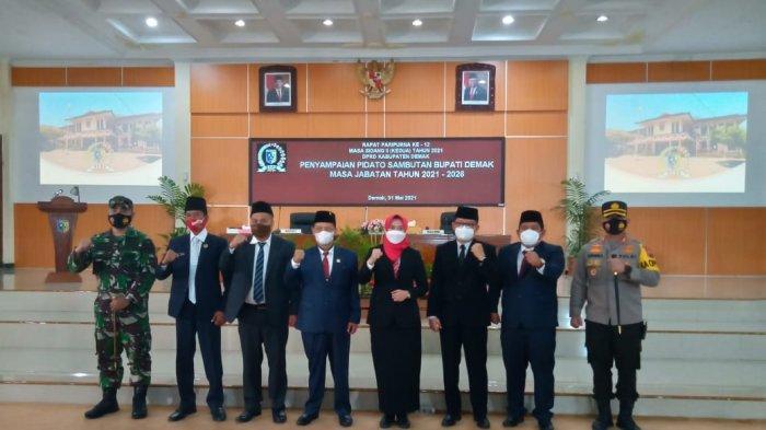 DPRD Demak Gelar Rapat Paripurna Penyerahan Raperda Pertanggungjawaban APBD 2020