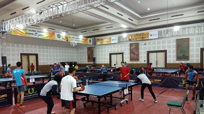 243 Atlet Tenis Meja dari Berbagai Daerah Perebutkan Hadiah Rp 100 Juta di Ultah Kospin Jasa ke-46