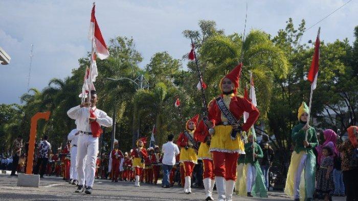 Puluhan Bendera Merah Putih Warnai Khoul Mbah Hasan Surgi Jati Kusumo di Batang