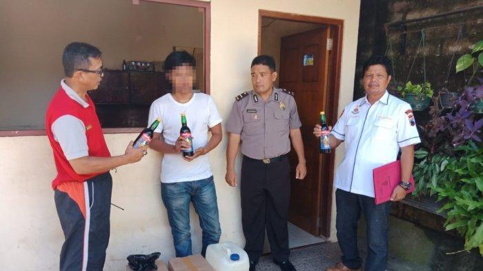 Miras dan Petasan Siap Edar Disita dari Rumah Warga di Bojongsari Purbalingga
