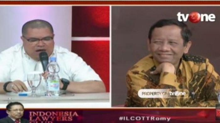 Dicurigai Razman Nasution soal Kasus Romahurmuziy, Reaksi Mahfud MD di ILC Jadi Sorotan