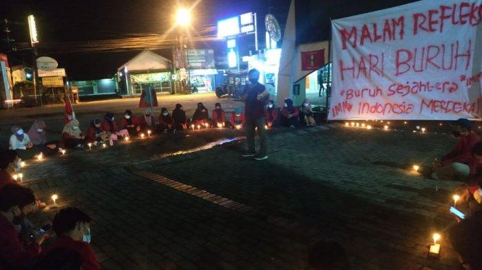 Gelar Refleksi Hari Buruh, IMM Banyumas Doa Bersama untuk Korban Kapal Selam KRI Nanggala 402