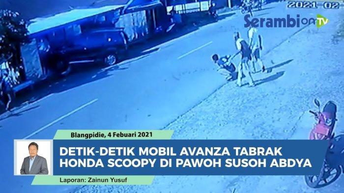 Rekaman CCTV Kecelakaan Motor Scoopy Vs Avanza Berakhir Tabrak Kios, Mobil Baru Langsung Remuk