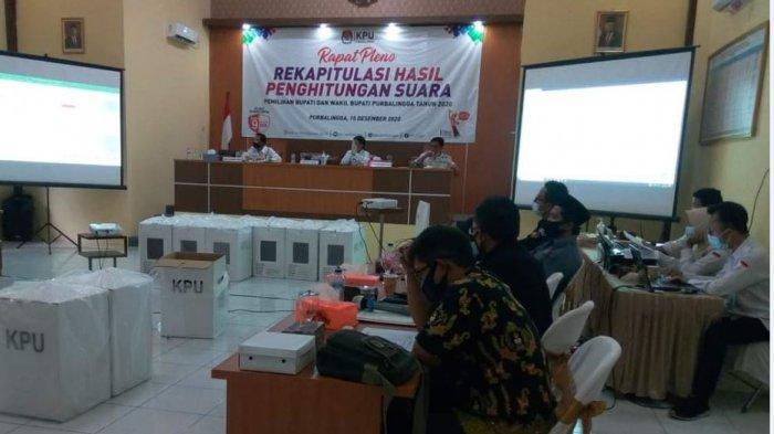 Hasil Rekap Suara KPU Purbalingga Menangkan Tiwi-Dono, Saksi Oji-Jeni Tolak Tandatangan