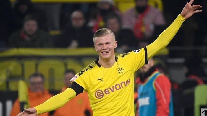Haaland Nggak Bisa Santai, Kembali Cetak Dua Gol, Dortmund Bantai Schalke 04 Sesuai Namanya