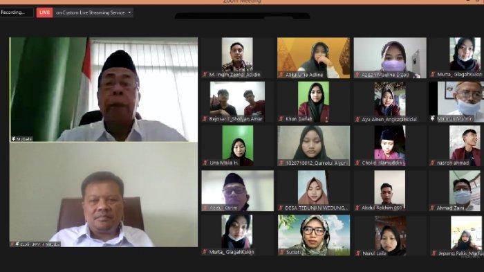 Rektor IAIN Kudus Lepas Peserta KKN IK secara Virtual