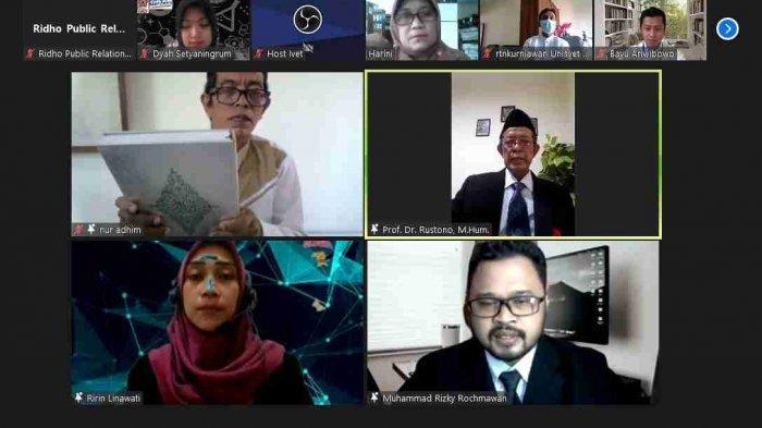 Rektor Universitas Ivet Semarang Lantik 2 Pejabat Struktural Baru via Daring