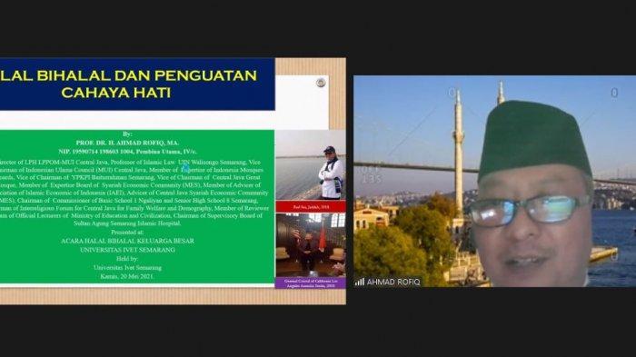 Unisvet Semarang Gelar Halalbihalal Virtual Hadirkan Prof Ahmad Rofiq